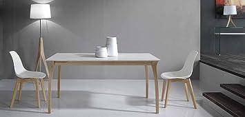 Maly Tavolo allungabile design 160x90 Naturale Bianco Frassinato
