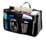 Moeni Handbag Purse Large Liner Multifunctional Organizer Travel Inserts For Totes Easy Change Bags (Black)