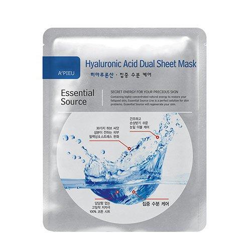 アピュ エッセンシャル ソース ヒアルロン酸 デュアル シート マスク