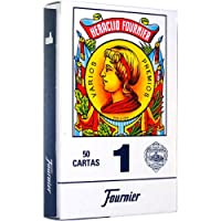 N.H. Fournier S.A. Educational Products - Fournier 1-50 Spanish Playing Cards (Blue) - Real Spanish Playing Cards by N.H. Fournier S.A.