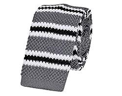 Tiekart Striped Men'S Tie (Mk94_Grey)