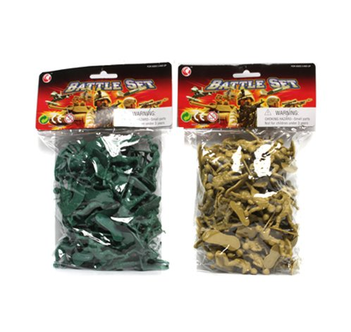 Set of 50  Plastic Soldiers - (Color May vary)
