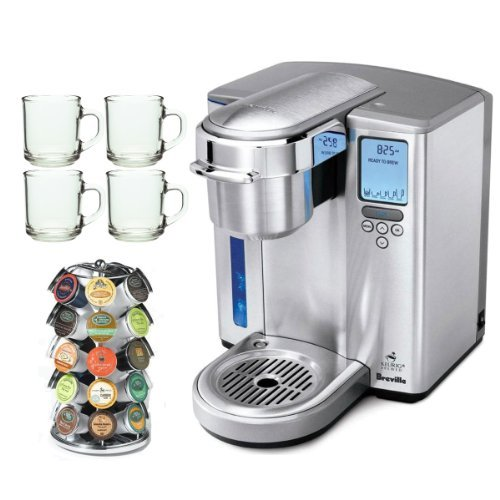 Breville BKC700XL Gourmet Single-Serve Coffeemaker w/ Iced-Beverage Function + 28 K-Cup Carousel + Accessory Kit