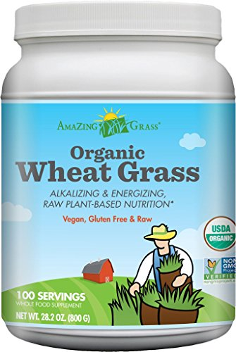 Amazing Grass Organic Wheat Grass 100 Serving, 28.2 oz. Container (Wheatgrass Organic Powder compare prices)
