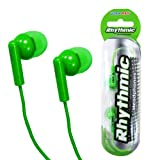 World of Data® Earphones - Funky Green Coloured - 1.2m Lead - Ideal For Mobile Phone & MP3/MP4 Players
