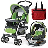 Chicco Cortina Keyfit 30 Travel System With Free Diaper Bag - Midori