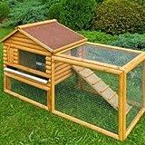 Clapier poulailler en bois pour lapins ou poules naines