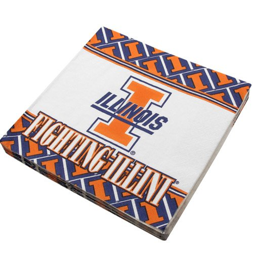 NCAA Illinois Fighting Illini 16-Count Luncheon Napkins