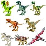 ThanksStore レゴ 互換 ジュラシック ワールド 恐竜 8体セット