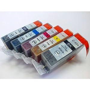 【クリックで詳細表示】GlobalStation キヤノン 【互換インク】 5色セット BCI-321+320 5MP ICチップ付き!: パソコン・周辺機器