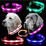 UC Express® Hunde Leuchthalsband Universell LED Hundehalsband Leuchtband Leuchtschlauch Blinkhalsband Blinki Farbwunsch, Farben:Pink