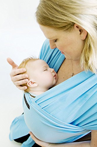 Lowest Prices! LIFETIME GUARANTEE - CuddleBug Baby Wrap Carrier - Light Blue Baby Wrap - Free Shippi...