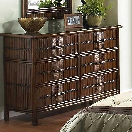 Hospitality Rattan Polynesian 6 Drawer Dresser