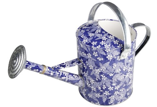 gie kanne aus zink blue blossom esschert 5l. Black Bedroom Furniture Sets. Home Design Ideas