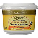 Spectrum Naturals, Shortening All Vegetable, Butter Flavor, At least 95% Organic, 24 oz