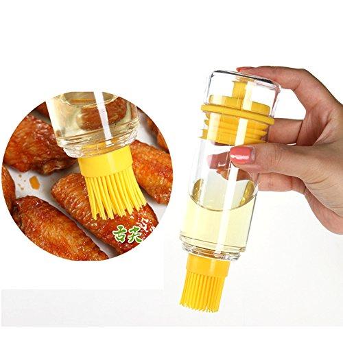 hiway Bouteille Pinceau poire pour barbecue. Utiliser avec huile, vin et sauce pour pâtisseries, viande, poisson et légumes-Parfait pour faire mariner vos aliments