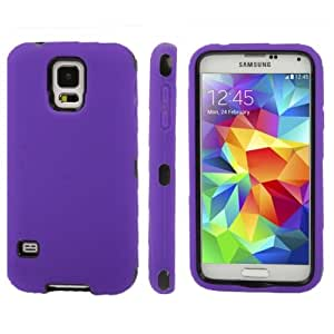Plastic + Silicone Combination Case for Samsung Galaxy S5 G900 in Purple