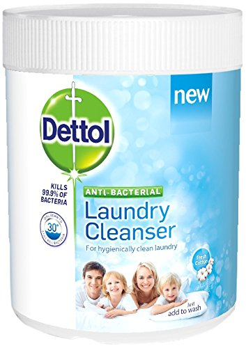 Dettol Antibacterial Laundry Cleanser Powder 990 g - Fresh Cotton, Pack of 3