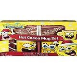 1 X Spongebob Hot Cocoa Mug Set, 2 Mugs and Cocoa Mix Included