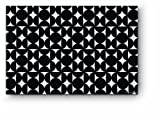 Citta Design 'Hana' Rectangular Placemats, Ink Black, Set of Four High Grade Polymer Placemats,18x12 inches