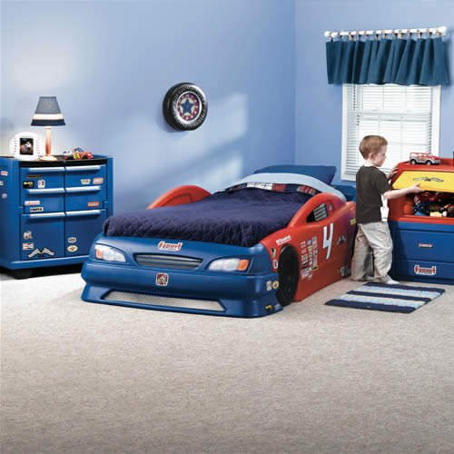 Stock Car Twin Bed, Tool Chest Dresser & Toy Box