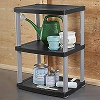 Sterilite Plastic 3-Shelf Unit