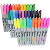 Sharpie Permanent Markers, Fine Point, Assorted Colors, Pack of 36