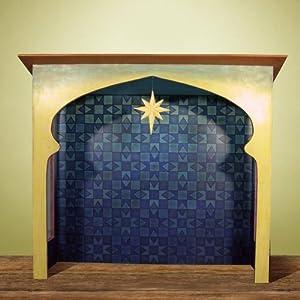 Jim Shore - Heartwood Creek - Blue Nativity Stable Creche by Enesco - 4007985
