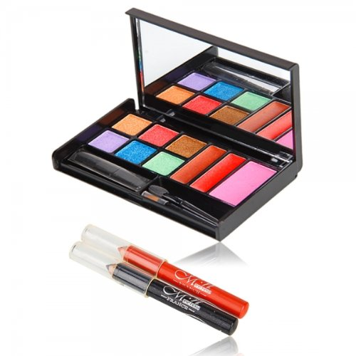 M.N. Colorful Makeup Set Eye Lip Pencil With Eye Shadow Color Red Purple Green Blue Orange 10006436 front-582862