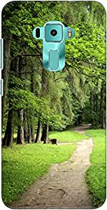 The Racoon Lean forest road hard plastic printed back case/cover for Asus Zenfone 3 Ze552Kl