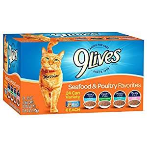 9Lives Seafood and Poultry Variety Pack, 24-Count