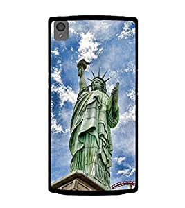 Stature of Liberty 2D Hard Polycarbonate Designer Back Case Cover for OnePlus X :: One Plus X :: One+X