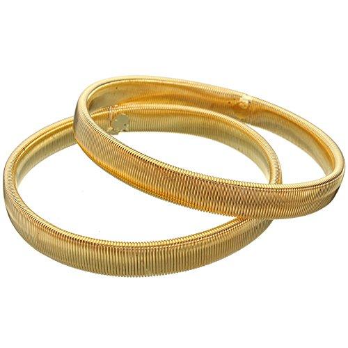 Behomy 1 Pair Shirt Sleeve Holder,Elastic Armband Anti-slip Metal Armband Stretch Garter Wedding Elasticated Armband Accessories (Gold)