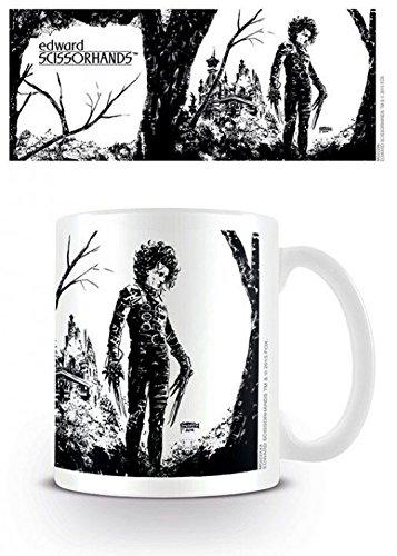 Set: Edward Mani Di Forbice, Black Ink Tazza Da Caffè Mug (9x8 cm) e 1 Sticker sorpresa 1art1®