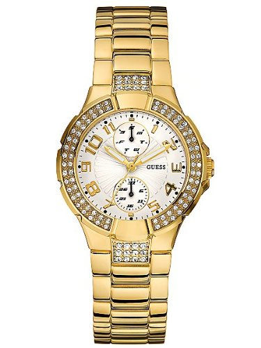 GUESS Status In-the-Round in Gold Watch