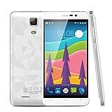 "Cubot Z100 - Smartphone 4G Libre Android 5.1 (Quad Core, Pantalla 5.0"", IPS 1280*720 HD, 1GB RAM, 16GB ROM, Cámara 8.0MP, Dual SIM, Smart Gesto) Blanco"