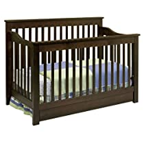 Hot Sale DaVinci Piedmont 4-in-1 Convertible Crib with Toddler Rail, Espresso