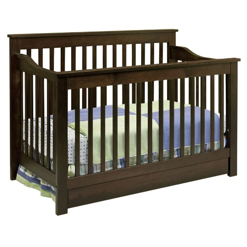 DaVinci Piedmont 4-in-1 Convertible Crib with Toddler Rail, Espresso