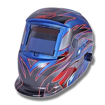 Qianqsun Protection Auto Darkening Solar welders Welding Helmet Mask Grinding Function blue