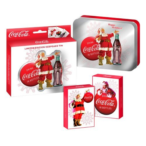 2008 COLLECTORS COCA-COLA 2 DECKS PLAYING CARDS IN LIMITED EDITION KEEPSAKE TIN - 1