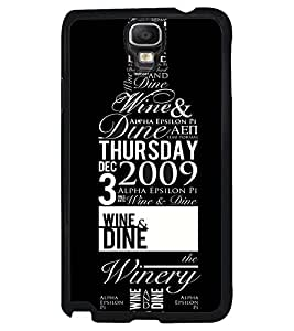 Printvisa Wine Bottle With Quotes Back Case Cover for Samsung Galaxy Note 3 Neo N7505