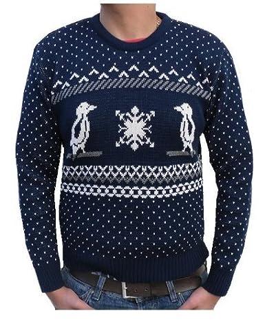 Retro Penguin Christmas Sweater