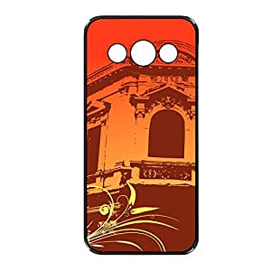 Vibhar printed case back cover for Samsung Galaxy Mega 5.8 OrangeWindow