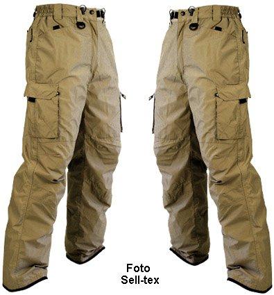 Skihose / Snowboardhose S - XXL für Damen und Herren in grau, sand oder schwarz (sand, XL)