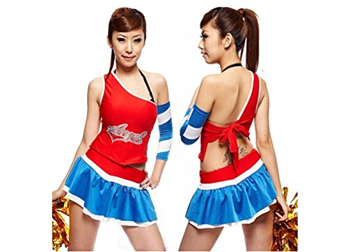 One-shoulder Cheerleader Costume/ Cheerleading Uniform/Cheerleader Outfit Size L