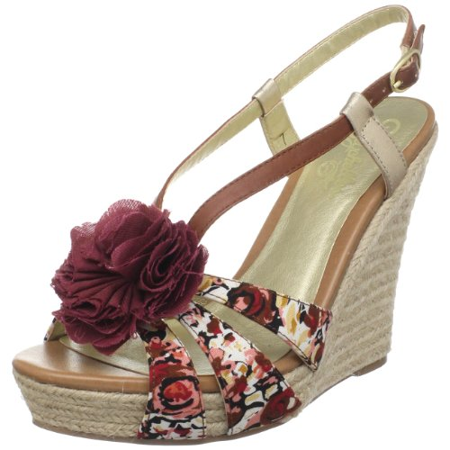 Seychelles Women's Rogers Ankle-Strap Sandal,Whiskey Fabric,7.5 M US