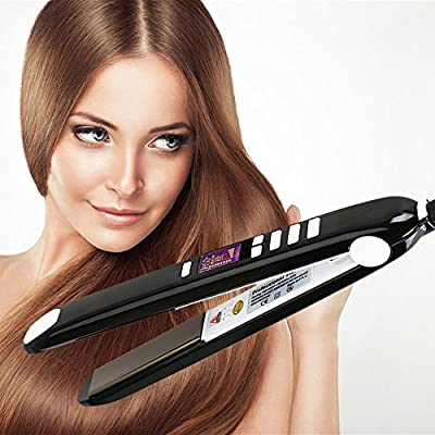 KIPOZI Flat Iron with Nano-Titanium Plate Hair Straightener for any Grade Hair, 1Inch, Instant Heat Up, Black