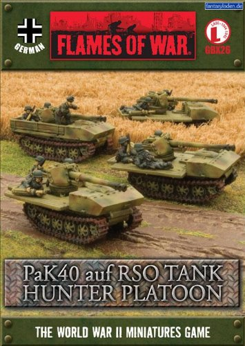 Flames of war: German, PaK40 auf RSO tank hunter Platoon