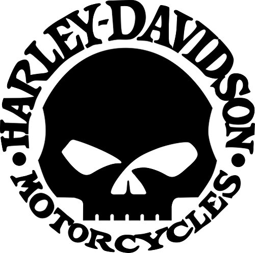 Willie G Skull Harley Davidson Motor Cycles Window Decal (8