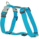 Red Dingo Plain Turquoise Dog Harness 15mm x  (Neck: 30-48cm / Body 36-54cm)